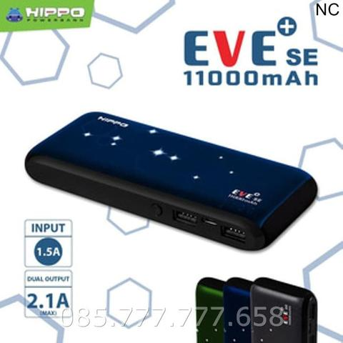 Powerbank Hippo Eve+ Plus SE 11000mAh /Power Bank Original 11000 mAh