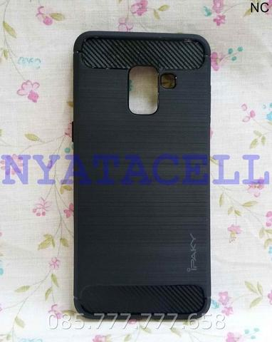 SoftCase Carbon Fiber Samsung A8 2018 /Ipaky/Capsule/Soft Case/Delkin