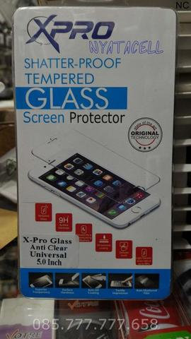 Tempered Glass Universal 5.0 Inch /Anti Gores Advan Acer Evercoss