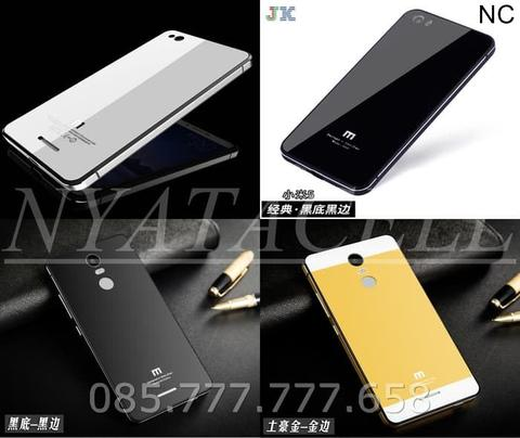 Back Case Tempered All Type /Metal Frame Aluminium Glass Hard Cover