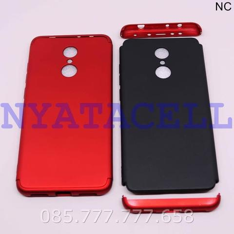 Case 360 3 In 1 Xiaomi Redmi 5/Full Protection Hardcase GKK Slim Matte - Hitam