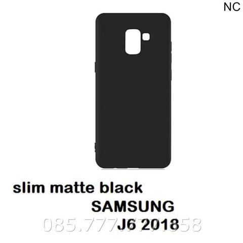 Case Matte Samsung J6 J600 Soft Black Anti Minyak Softcase/Jelly