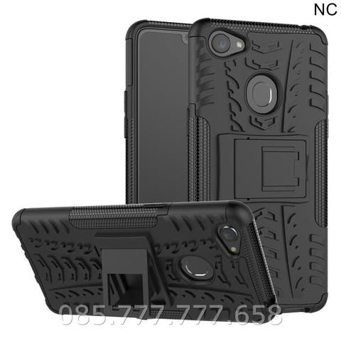Case Rugged Oppo F7 Soft+Hard Back Stand Dual Armor Cover Slim