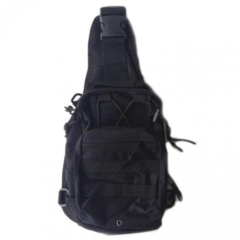 Tas Selempang Outdoor Military Tactical Duffel Backpack - Hitam & Coklat