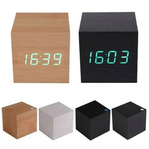 Jam Digital LED Kayu Unik JK 808