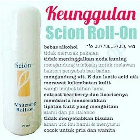 Harga Nu Skin whitening Scion Roll-On 085842992540
