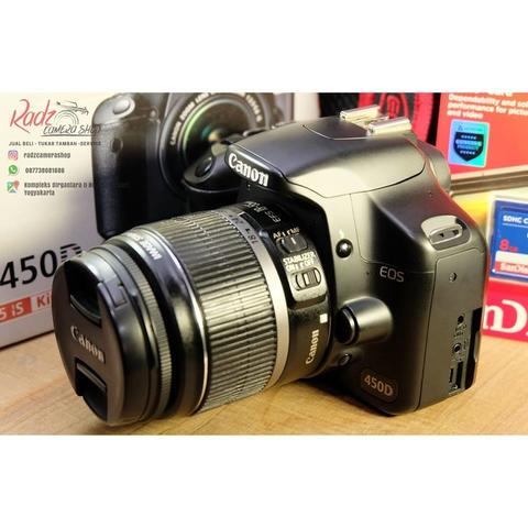 [Radz Camera Shop] Canon 450D Black Kit 18-55mm Ex DS SC 11rb-an Mulus