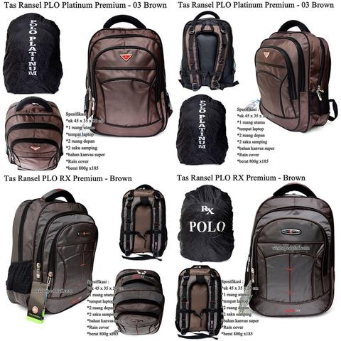 Tas Ransel Laptop Plo Premium Brown