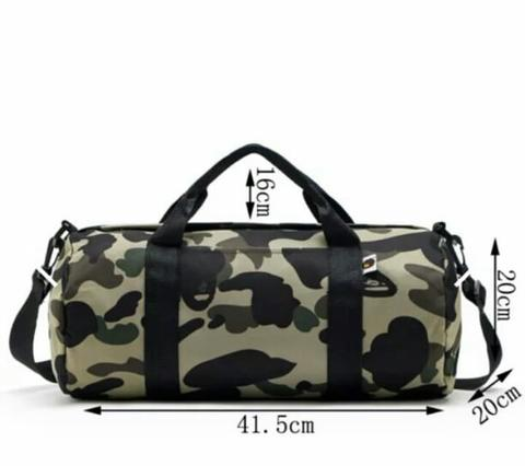 duffle bag bape camo / travel gym bag bape