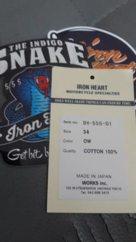 Jual Iron Heart Denim IH555-01 - 21 oz, size 34 masukk gannn