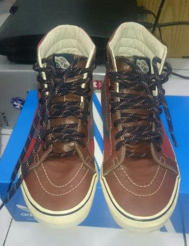 Vans sk8hi re issue leather & 14oz canvas