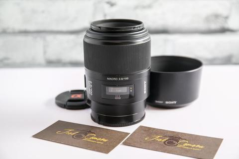JOELCAM - SONY 100MM F2.8 MACRO FOR SONY A MOUNT - FULLSET BOX - MULUS
