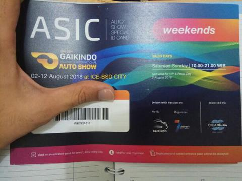Jual Tiket GIIAS WEEKEND Murah Meriah