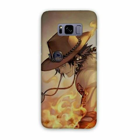 One Piece Ace Samsung Galaxy S8 Plus Custom Hard Case