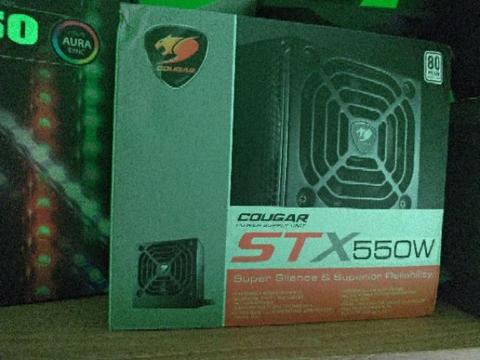 Power Supply Cougar stx550 80+ certified