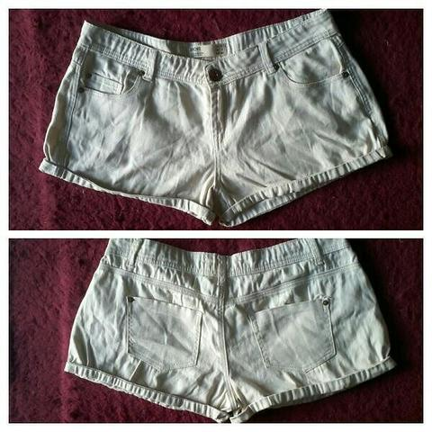 PRELOVED HOTPANT COTTON ON _ DENIM JEANS CREAM FIT L