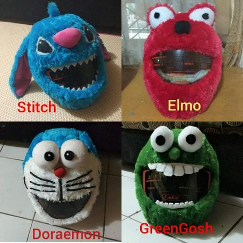 cover helm lucu,elmo dll