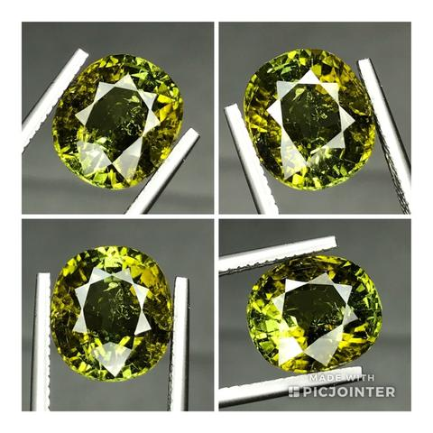 Natural 5.05ct Yellowish Green Tourmaline Brutal Luster Top Quality