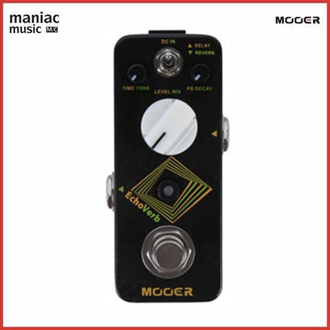 Mooer Echo Verb (Efek Gitar, Reverb, Digital Delay, Tap, True Bypass)