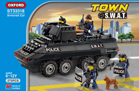 Ready Stock Kado Hadiah Souvenir Blok Lego SWAT Police Oxford No 1 In Korea (ST33318)