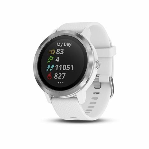 GARMIN Vivoactive 3 White Stainless With White Band - GPS Smartwatch Running