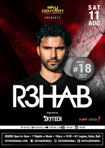 R3HAB at Sky Garden Bali Disc 20%-30%
