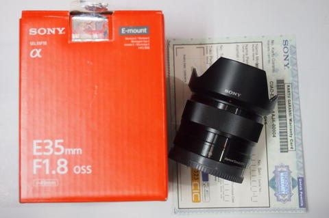 SONY E 35MM F/1.8 OSS for a6000 a6500 a6300 a6100 a5100