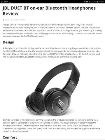 headphone JBL Duet BT wireless on-ear baru segel murah