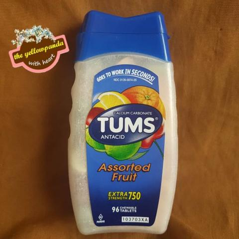 Tums Extra Strength 750, 96 Assorted Fruit Chewable Tablets