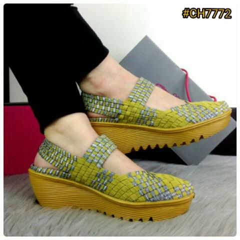 BESTSELLER IN STORE Sepatu Fashion Wanita Murah Wedges Shoes Heels 5.5cm #CH7772