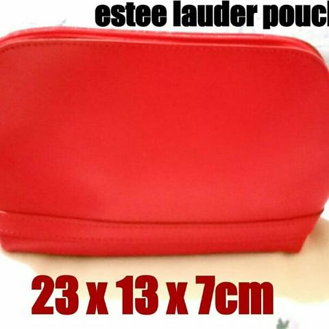estee lauder pouch red polos bahan tebal