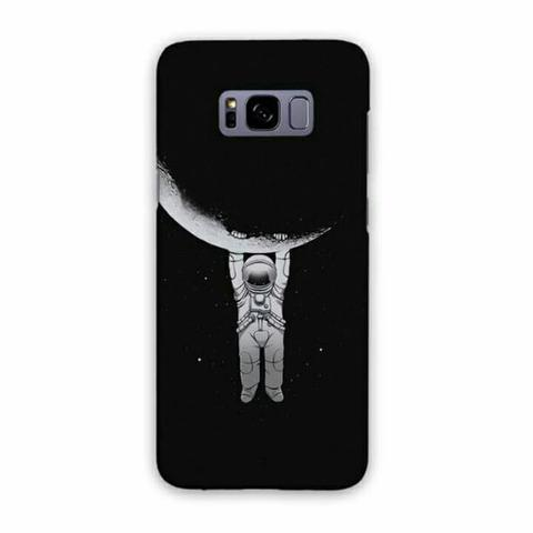 Astronot Hanging From Moon Samsung Galaxy S8 Plus Custom Hard Case