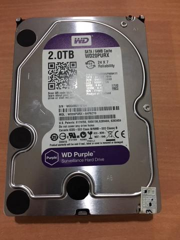 WDC Purple 2Tb For CCTV Int 3,5 Inch