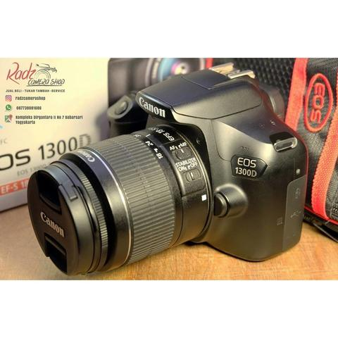 [Radz Camera Shop] Canon 1300D Kit 18-55 IS II Ex DS Mulus