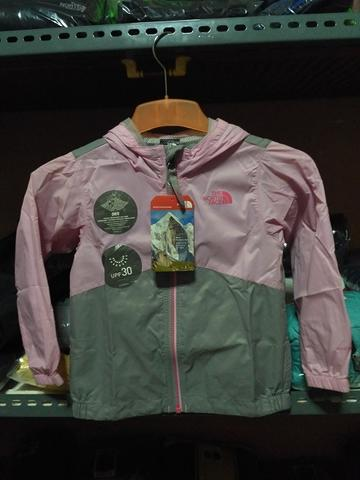 The North Face TNF Original Tipe Toddler Tailout Rain Jacket Pink Gray Size 4y