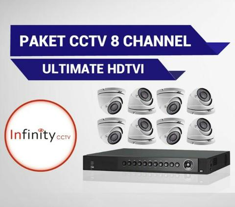 Promo Paket CCTV Infinity 8 Channel Ultimate , Paling Murah