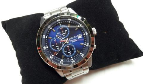 Seiko Chronograph SKS559P1 Men Blue Dial Stainless Steel