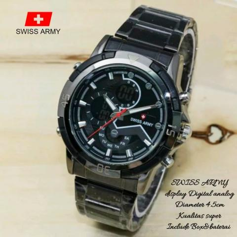 Jual!! jam tangan pria swiss army digital analog atau double time