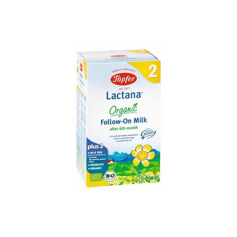 TOPFER LACTANA ORGANIC FOLLOW ON MILK FORMULA 2 600 gr