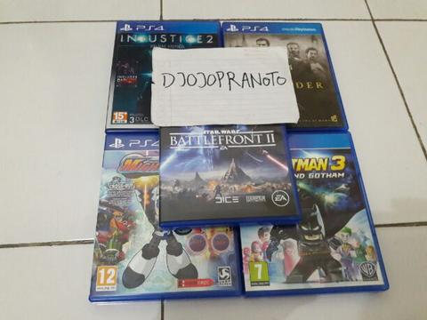 PS4 Starwars Battlefront 2,Mighty No 9,Lego Batman 3,Injustice 2,The Order
