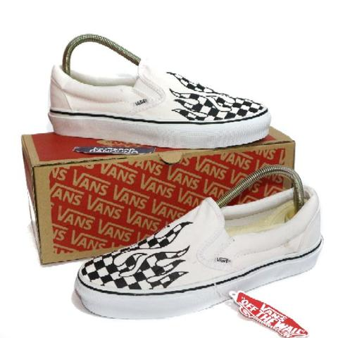 c39785cc7dee7e Terjual Vans Slip On Checker Flame White black Premium BNIB (Free ...