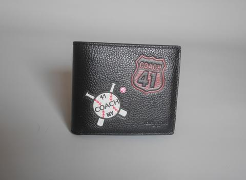 Coach Men Wallet Mixed Patches Black