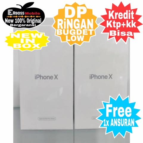 IPhone X Apple New CPO [256GB] Cash/Kredit Ditoko Dp Bisa Call/Wa;081905288895