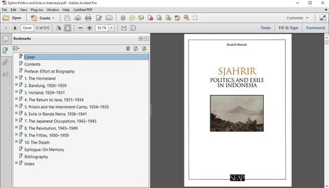 Sjahrir Politics and Exile in Indonesia