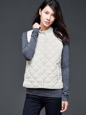 GAP Quilted Vest Original - White