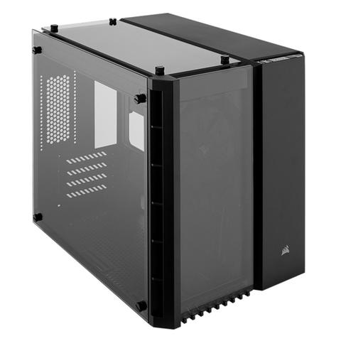 [JoJo CompTech] Corsair Crystal Series 280X Tempered Glass Micro ATX Case - Black