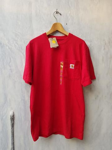 CARHARTT WORK IN PROGRESS Pocket S/S T-Shirt Size S Original Red