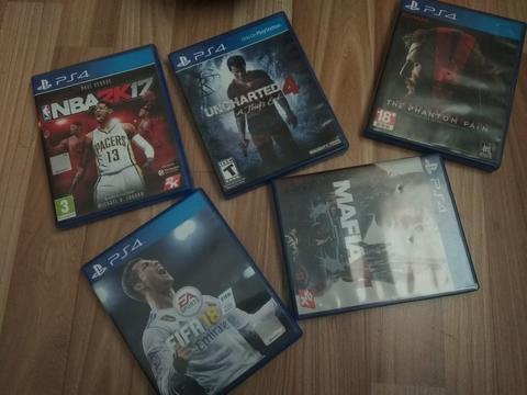 BD KASET PS4 GAME UNCHARTED 4, METAL GEAR SOLID V, FIFA 18, NBA 2K17, MAFIA III