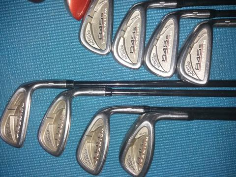 Stik Golf : Iron Tommy Armour 845s Titanium + Wood Taylor Made Burner