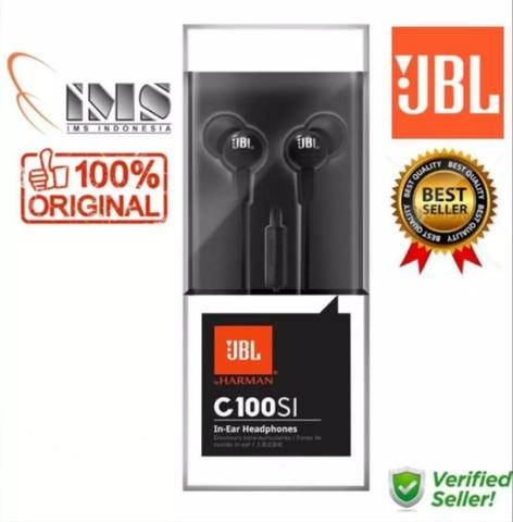 [TERMURAH] Earphone Headset JBL C100SI Ori Garansi IMS Harman Jogja